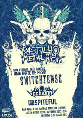 cartaz do Rastilho Metal Night
