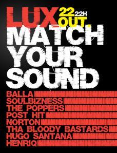 cartaz Match Your Sound