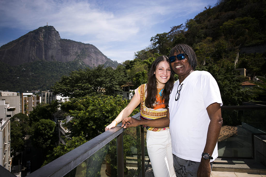 Carminho em casa de Milton Nascimento, Rio de Janeiro, Brasil 29-01-2015 fotografia: Marisa Cardoso