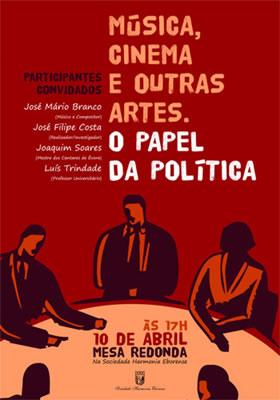 cartaz da Mesa Redonda
