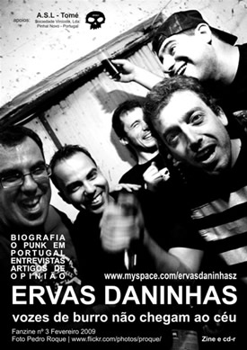 capa de Fanzine #3 Ervas Daninhas