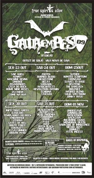 cartaz de Gaia em Peso 09