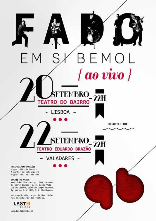 Fado em Si Bemol – Teatro do Bairro – Lisboa – 20/Set/12