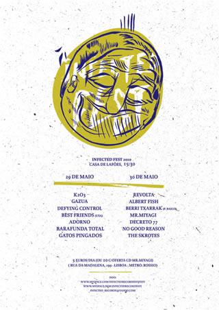 cartaz de Infected Fest 2010