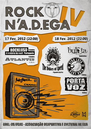 cartaz do rock n' a.d. ega