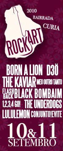 cartaz Rock'Art Bairrada Curia 2010